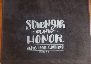 Black Towel - Strength and Honor Silver