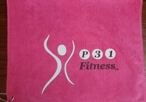 Pink Towel - P31 Fitness White